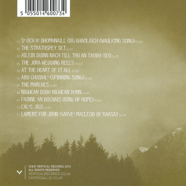 Capercaillie - at the heart of it all (back cover)