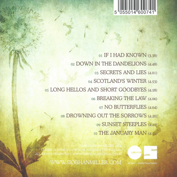 Siobhan Miller - Flight of Time - Back Cover